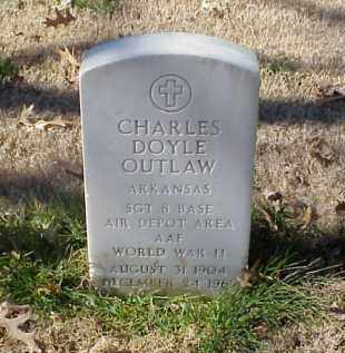 OUTLAW (VETERAN WWII), CHARLES DOYLE - Pulaski County, Arkansas | CHARLES DOYLE OUTLAW (VETERAN WWII) - Arkansas Gravestone Photos