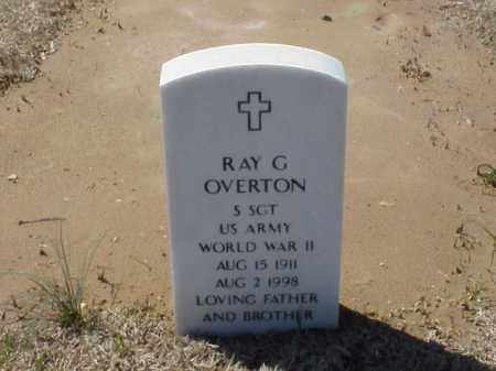 OVERTON (VETERAN WWII), RAY G - Pulaski County, Arkansas   RAY G OVERTON (VETERAN WWII) - Arkansas Gravestone Photos