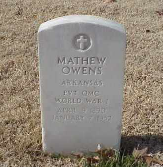 OWENS (VETERAN WWI), MATHEW - Pulaski County, Arkansas | MATHEW OWENS (VETERAN WWI) - Arkansas Gravestone Photos