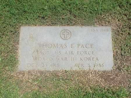 PACE (VETERAN 2 WARS), THOMAS E - Pulaski County, Arkansas | THOMAS E PACE (VETERAN 2 WARS) - Arkansas Gravestone Photos