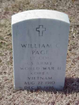 PAGE (VETERAN 2 WARS), WILLIAM C - Pulaski County, Arkansas   WILLIAM C PAGE (VETERAN 2 WARS) - Arkansas Gravestone Photos