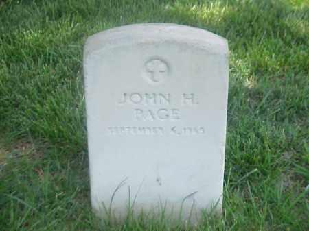 PAGE, JOHN H - Pulaski County, Arkansas | JOHN H PAGE - Arkansas Gravestone Photos