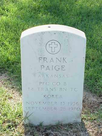 PAIGE (VETERAN KOR), FRANK - Pulaski County, Arkansas | FRANK PAIGE (VETERAN KOR) - Arkansas Gravestone Photos