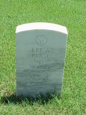 PAIGE (VETERAN WWII), LEE A - Pulaski County, Arkansas   LEE A PAIGE (VETERAN WWII) - Arkansas Gravestone Photos