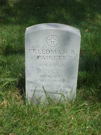 PAIRETT (VETERAN WWII), FREEDMAN R - Pulaski County, Arkansas | FREEDMAN R PAIRETT (VETERAN WWII) - Arkansas Gravestone Photos