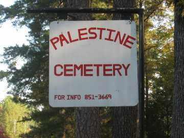 *PALESTINE CEMETERY, SIGN - Pulaski County, Arkansas   SIGN *PALESTINE CEMETERY - Arkansas Gravestone Photos