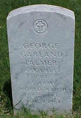 PALMER (VETERAN WWII), GEORGE GARLAND - Pulaski County, Arkansas | GEORGE GARLAND PALMER (VETERAN WWII) - Arkansas Gravestone Photos