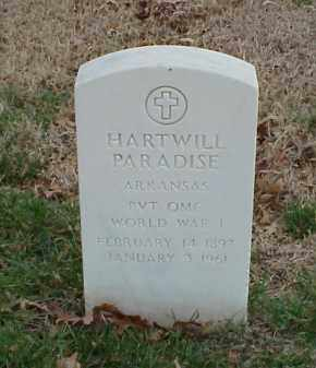 PARADISE  (VETERAN WWI), HARTWILL - Pulaski County, Arkansas   HARTWILL PARADISE  (VETERAN WWI) - Arkansas Gravestone Photos
