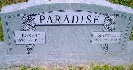 PARADISE, MARY  L. - Pulaski County, Arkansas | MARY  L. PARADISE - Arkansas Gravestone Photos