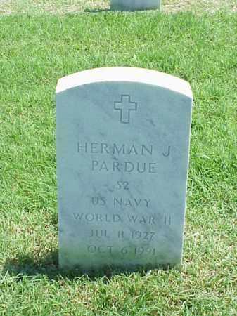 PARDUE (VETERAN WWII), HERMAN J - Pulaski County, Arkansas | HERMAN J PARDUE (VETERAN WWII) - Arkansas Gravestone Photos