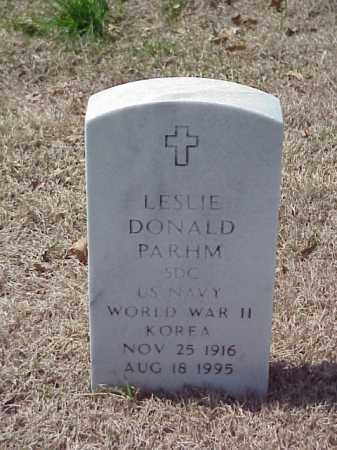 PARHM (VETERAN 2 WARS), LESLIE DONALD - Pulaski County, Arkansas | LESLIE DONALD PARHM (VETERAN 2 WARS) - Arkansas Gravestone Photos
