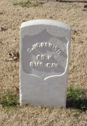 PARISH (VETERAN UNION), G W - Pulaski County, Arkansas   G W PARISH (VETERAN UNION) - Arkansas Gravestone Photos
