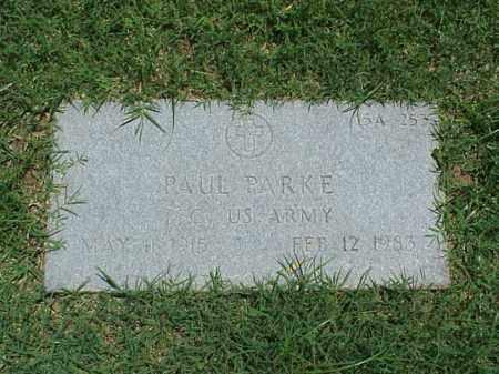 PARKE (VETERAN), PAUL - Pulaski County, Arkansas   PAUL PARKE (VETERAN) - Arkansas Gravestone Photos