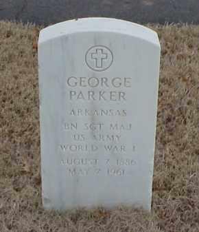 PARKER  (VETERAN WWI), GEORGE - Pulaski County, Arkansas   GEORGE PARKER  (VETERAN WWI) - Arkansas Gravestone Photos