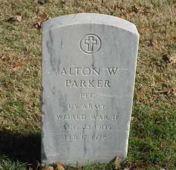 PARKER (VETERAN WWII), ALTON W - Pulaski County, Arkansas   ALTON W PARKER (VETERAN WWII) - Arkansas Gravestone Photos