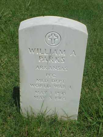 PARKS (VETERAN WWI), WILLIAM A - Pulaski County, Arkansas   WILLIAM A PARKS (VETERAN WWI) - Arkansas Gravestone Photos
