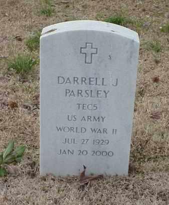 PARSLEY  (VETERAN WWII), DARRELL J - Pulaski County, Arkansas | DARRELL J PARSLEY  (VETERAN WWII) - Arkansas Gravestone Photos