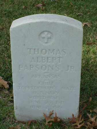 PARSONS, JR (VETERAN WWII), THOMAS ALBERT - Pulaski County, Arkansas | THOMAS ALBERT PARSONS, JR (VETERAN WWII) - Arkansas Gravestone Photos