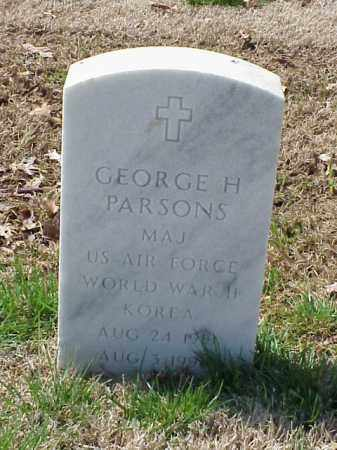 PARSONS (VETERAN 2 WARS), GEORGE H - Pulaski County, Arkansas | GEORGE H PARSONS (VETERAN 2 WARS) - Arkansas Gravestone Photos