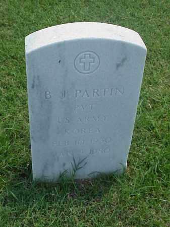 PARTIN (VETERAN KOR), B J - Pulaski County, Arkansas | B J PARTIN (VETERAN KOR) - Arkansas Gravestone Photos