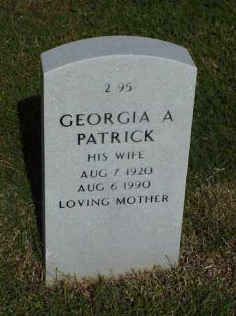 PATRICK, GEORGIA A - Pulaski County, Arkansas | GEORGIA A PATRICK - Arkansas Gravestone Photos