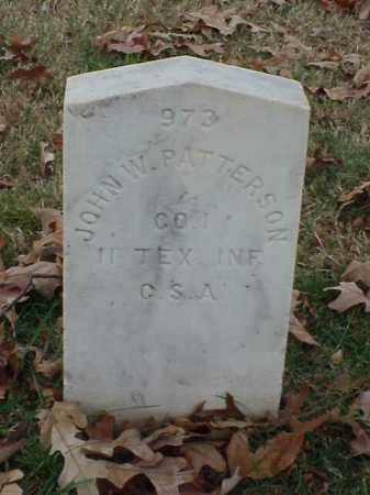 PATTERSON (VETERAN CSA), JOHN W - Pulaski County, Arkansas | JOHN W PATTERSON (VETERAN CSA) - Arkansas Gravestone Photos