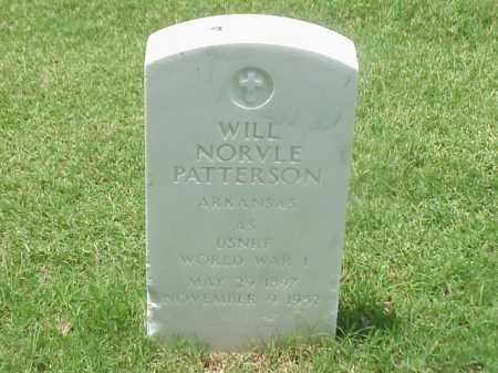 PATTERSON (VETERAN WWI), WILL NORVLE - Pulaski County, Arkansas   WILL NORVLE PATTERSON (VETERAN WWI) - Arkansas Gravestone Photos