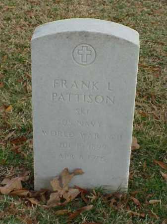 PATTISON (VETERAN 2 WARS), FRANK L - Pulaski County, Arkansas | FRANK L PATTISON (VETERAN 2 WARS) - Arkansas Gravestone Photos