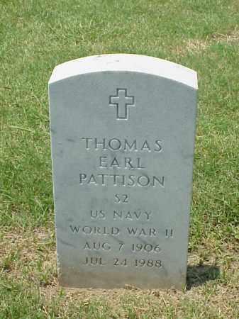 PATTISON (VETERAN WWII), THOMAS EARL - Pulaski County, Arkansas | THOMAS EARL PATTISON (VETERAN WWII) - Arkansas Gravestone Photos
