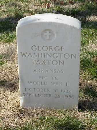 PAXTON (VETERAN WWII), GEORGE WASHINGTON - Pulaski County, Arkansas | GEORGE WASHINGTON PAXTON (VETERAN WWII) - Arkansas Gravestone Photos