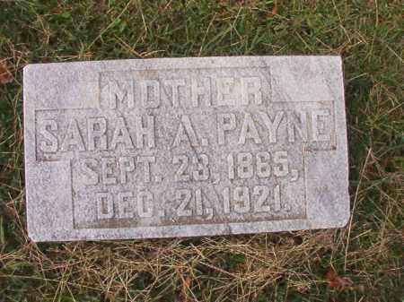 PAYNE, SARAH A - Pulaski County, Arkansas   SARAH A PAYNE - Arkansas Gravestone Photos