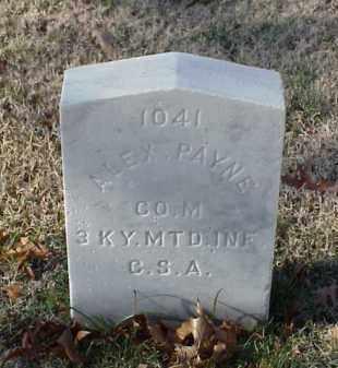 PAYNE (VETERAN CSA), ALEX - Pulaski County, Arkansas | ALEX PAYNE (VETERAN CSA) - Arkansas Gravestone Photos