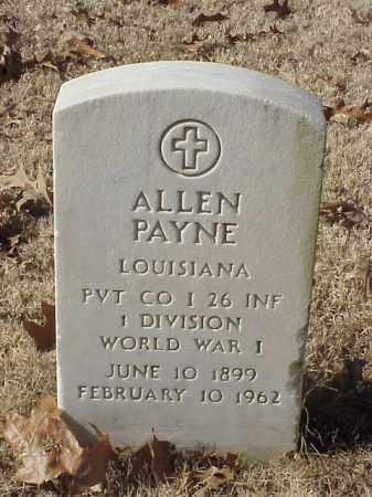 PAYNE (VETERAN WWI), ALLEN - Pulaski County, Arkansas   ALLEN PAYNE (VETERAN WWI) - Arkansas Gravestone Photos