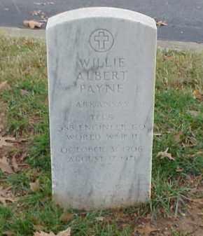 PAYNE (VETERAN WWII), WILLIE ALBERT - Pulaski County, Arkansas | WILLIE ALBERT PAYNE (VETERAN WWII) - Arkansas Gravestone Photos