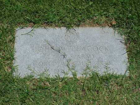 PEACOCK (VETERAN 2 WARS), JOHN W - Pulaski County, Arkansas | JOHN W PEACOCK (VETERAN 2 WARS) - Arkansas Gravestone Photos