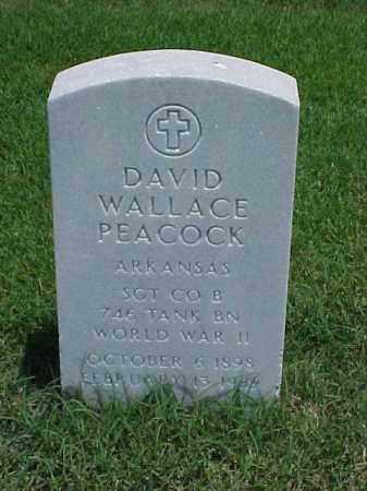 PEACOCK (VETERAN WWII), DAVID WALLACE - Pulaski County, Arkansas | DAVID WALLACE PEACOCK (VETERAN WWII) - Arkansas Gravestone Photos