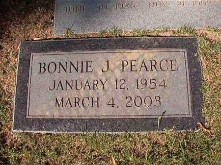 PEARCE, BONNIE J - Pulaski County, Arkansas   BONNIE J PEARCE - Arkansas Gravestone Photos