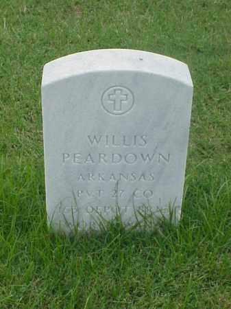 PEARDOWN (VETERAN WWI), WILLIS - Pulaski County, Arkansas   WILLIS PEARDOWN (VETERAN WWI) - Arkansas Gravestone Photos