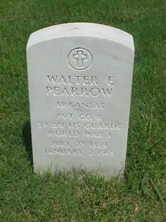 PEARROW (VETERAN WWI), WALTER E - Pulaski County, Arkansas | WALTER E PEARROW (VETERAN WWI) - Arkansas Gravestone Photos