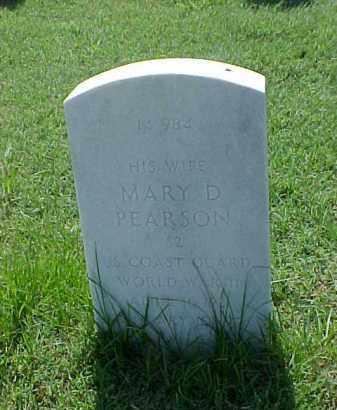 PEARSON, MARY D - Pulaski County, Arkansas | MARY D PEARSON - Arkansas Gravestone Photos