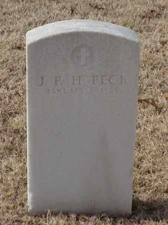 PECK (VETERAN UNION), J P H - Pulaski County, Arkansas | J P H PECK (VETERAN UNION) - Arkansas Gravestone Photos