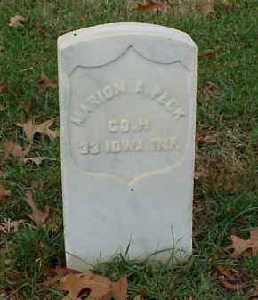 PECK (VETERAN UNION), MARION A - Pulaski County, Arkansas   MARION A PECK (VETERAN UNION) - Arkansas Gravestone Photos
