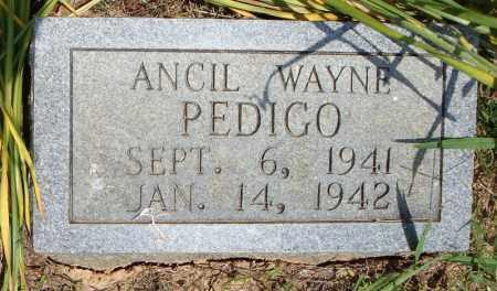 PEDIGO, ANCIL WAYNE - Pulaski County, Arkansas | ANCIL WAYNE PEDIGO - Arkansas Gravestone Photos