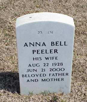 PEELER, ANNA BELL - Pulaski County, Arkansas   ANNA BELL PEELER - Arkansas Gravestone Photos