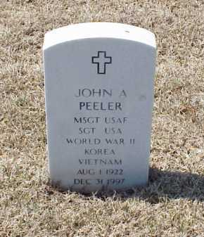 PEELER (VETERAN 3 WARS), JOHN A - Pulaski County, Arkansas | JOHN A PEELER (VETERAN 3 WARS) - Arkansas Gravestone Photos