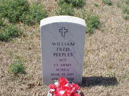 PEEPLES (VETERAN KOR), WILLIAM FRED - Pulaski County, Arkansas | WILLIAM FRED PEEPLES (VETERAN KOR) - Arkansas Gravestone Photos