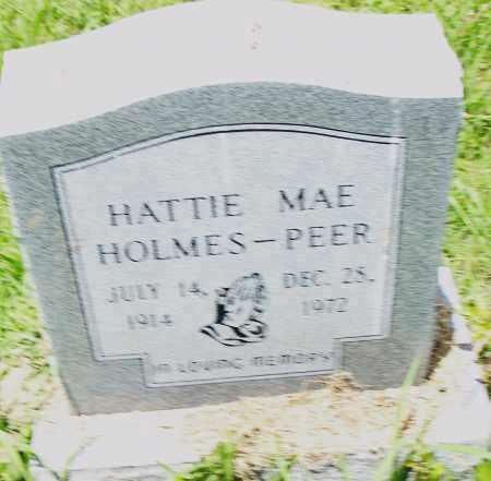 HOLMES PEER, HATTIE MAE - Pulaski County, Arkansas | HATTIE MAE HOLMES PEER - Arkansas Gravestone Photos