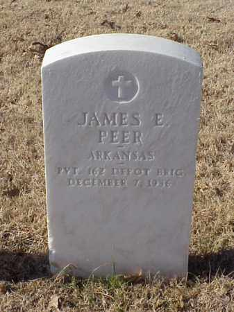PEER (VETERAN WWI), JAMES E - Pulaski County, Arkansas | JAMES E PEER (VETERAN WWI) - Arkansas Gravestone Photos