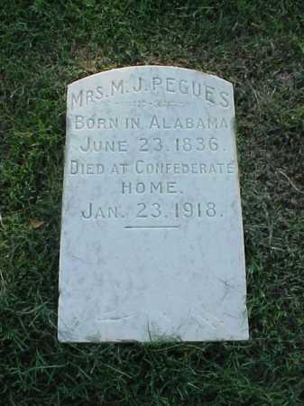 PEGUES, MRS M J - Pulaski County, Arkansas   MRS M J PEGUES - Arkansas Gravestone Photos