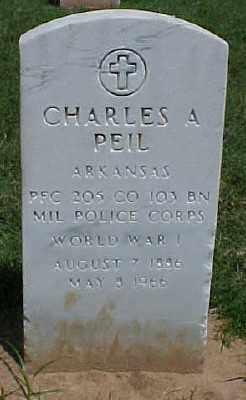 PEIL (VETERAN WWI), CHARLES A - Pulaski County, Arkansas | CHARLES A PEIL (VETERAN WWI) - Arkansas Gravestone Photos